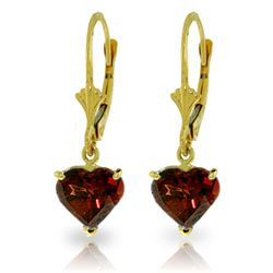 ALARRI 3.05 Carat 14K Solid Gold Cupid Garnet Earrings
