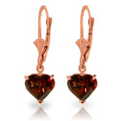 ALARRI 3.05 Carat 14K Solid Rose Gold Garnet Fire Earrings