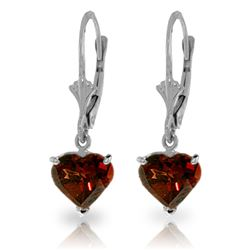 ALARRI 3.05 Carat 14K Solid White Gold Speak What Is Right Garnet Earrings