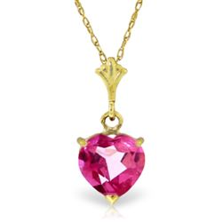 ALARRI 1.15 Carat 14K Solid Gold As I Lay Pink Topaz Necklace