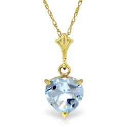 ALARRI 1.15 CTW 14K Solid Gold Love Foundation Aquamarine Necklace