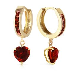ALARRI 4.1 Carat 14K Solid Gold Sicily Garnet Earrings