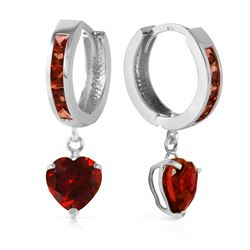 ALARRI 4.1 Carat 14K Solid White Gold How Sweet The Night Garnet Earrings