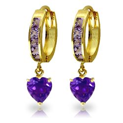 ALARRI 4.1 Carat 14K Solid Gold Sicily Amethyst Earrings