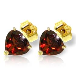 ALARRI 3.25 Carat 14K Solid Gold Girl Class Garnet Earrings