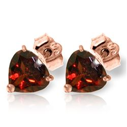 ALARRI 3.25 Carat 14K Solid Rose Gold Divinity Garnet Stud Earrings