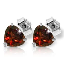 ALARRI 3.25 CTW 14K Solid White Gold Le Temps Passer Garnet Earrings