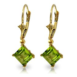 ALARRI 3.2 Carat 14K Solid Gold Evangelynne Peridot Earrings