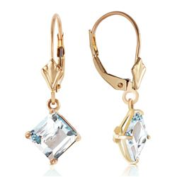 ALARRI 3.2 Carat 14K Solid Gold Excellence Aquamarine Earrings