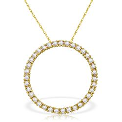 ALARRI 0.52 Carat 14K Solid Gold Diamond Circle Of Love Necklace