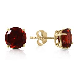 ALARRI 3.1 Carat 14K Solid Gold Dream Your Heart Garnet Earrings