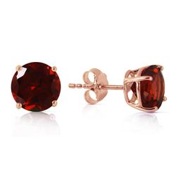 ALARRI 3.1 CTW 14K Solid Rose Gold Anna Garnet Stud Earrings