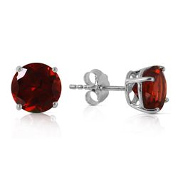 ALARRI 3.1 Carat 14K Solid White Gold Entre Nous Garnet Earrings