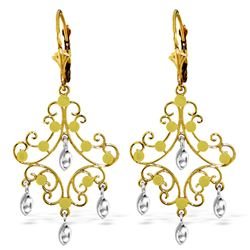 ALARRI 14K Solid Gold Chandelier Earrings