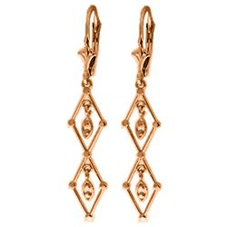 ALARRI 14K Solid Rose Gold Chandelier Earrings