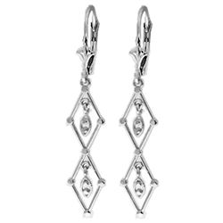 ALARRI 14K Solid White Gold Faithful To The End Chandelier Earrings
