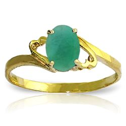 ALARRI 0.75 CTW 14K Solid Gold Rings Natural Emerald