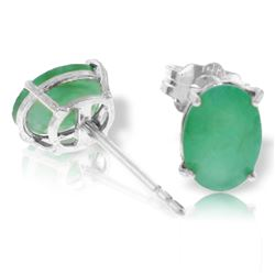 ALARRI 1.8 Carat 14K Solid White Gold Stud Earrings Natural Emerald