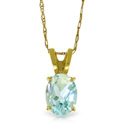 ALARRI 0.75 Carat 14K Solid Gold Solo Mio Aquamarine Necklace