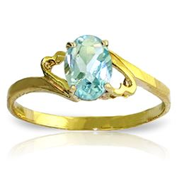 ALARRI 0.75 CTW 14K Solid Gold Rings Natural Aquamarine