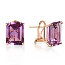 ALARRI 13 Carat 14K Solid Gold Distinction Amethyst Earrings