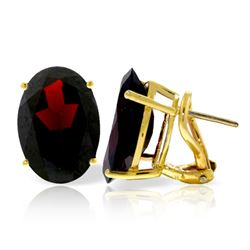 ALARRI 13 Carat 14K Solid Gold French Clips Earrings Natural Garnet