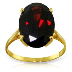 ALARRI 6 Carat 14K Solid Gold Ring Natural Oval Garnet