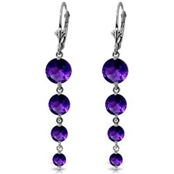 ALARRI 7.8 CTW 14K Solid White Gold Love Survives Amethyst Earrings