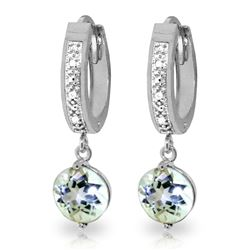 ALARRI 2.28 CTW 14K Solid White Gold Good Advice Aquamarine Diamond Earrings