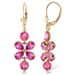 ALARRI 5.32 Carat 14K Solid Gold Petals Pink Topaz Earrings