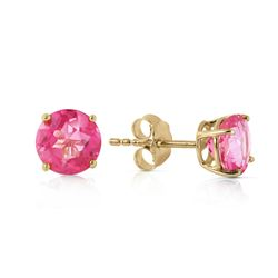 ALARRI 1.3 Carat 14K Solid Gold Pink In June Pink Topaz Earrings