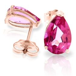ALARRI 3.15 CTW 14K Solid Rose Gold Allure Pink Topaz Stud Earrings
