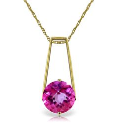 ALARRI 1.45 Carat 14K Solid Gold Sumptuous Moment Pink Topaz Necklace