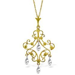 ALARRI 14K Solid Gold Chandelier Necklace