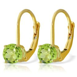 ALARRI 1.2 Carat 14K Solid Gold Grab And Go Peridot Earrings
