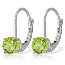 ALARRI 1.2 Carat 14K Solid White Gold Wet Grass Peridot Earrings