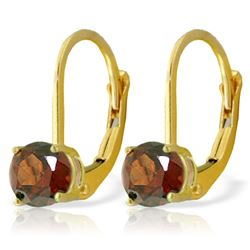 ALARRI 1.2 Carat 14K Solid Gold Iris Garnet Earrings