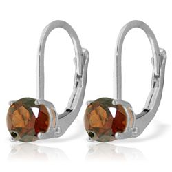 ALARRI 1.2 CTW 14K Solid White Gold Jessica's Dream Garnet Earrings
