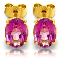 ALARRI 1.8 CTW 14K Solid Gold Falling In Love Again Pink Topaz Earrings