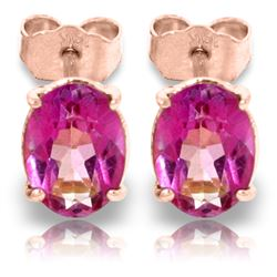 ALARRI 1.8 CTW 14K Solid Rose Gold Panache Pink Topaz Stud Earrings