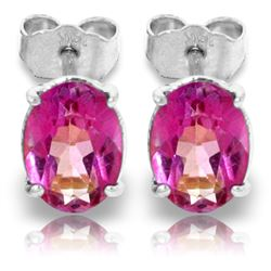 ALARRI 1.8 CTW 14K Solid White Gold Ah Those Eyes Pink Topaz Earrings