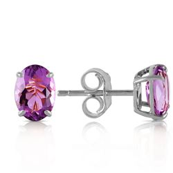 ALARRI 1.8 Carat 14K Solid White Gold Purple Eyed Angel Amethyst Earrings