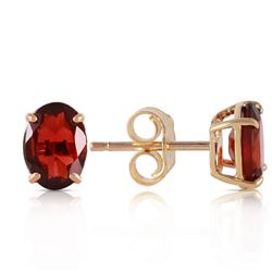 ALARRI 1.8 CTW 14K Solid Gold Dream Big Garnet Earrings