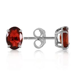ALARRI 1.8 CTW 14K Solid White Gold Make Believe Garnet Earrings
