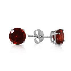 ALARRI 0.95 Carat 14K Solid White Gold Behold Glory Garnet Earrings