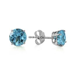 ALARRI 0.95 Carat 14K Solid White Gold Welcome Light Blue Topaz Earrings