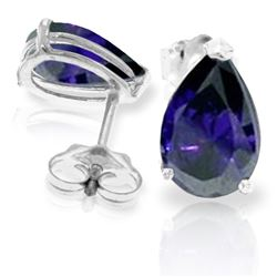 ALARRI 3 Carat 14K Solid White Gold Gem Of A Woman Sapphire Earrings