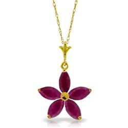 ALARRI 1.4 CTW 14K Solid Gold Festival Of Hope Ruby Necklace