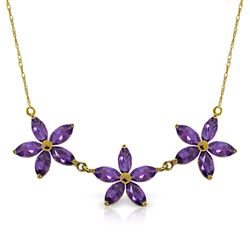 ALARRI 4.2 Carat 14K Solid Gold House Of Mirth Amethyst Necklace