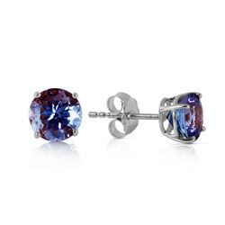ALARRI 0.95 CTW 14K Solid White Gold Own Standard Tanzanite Earrings